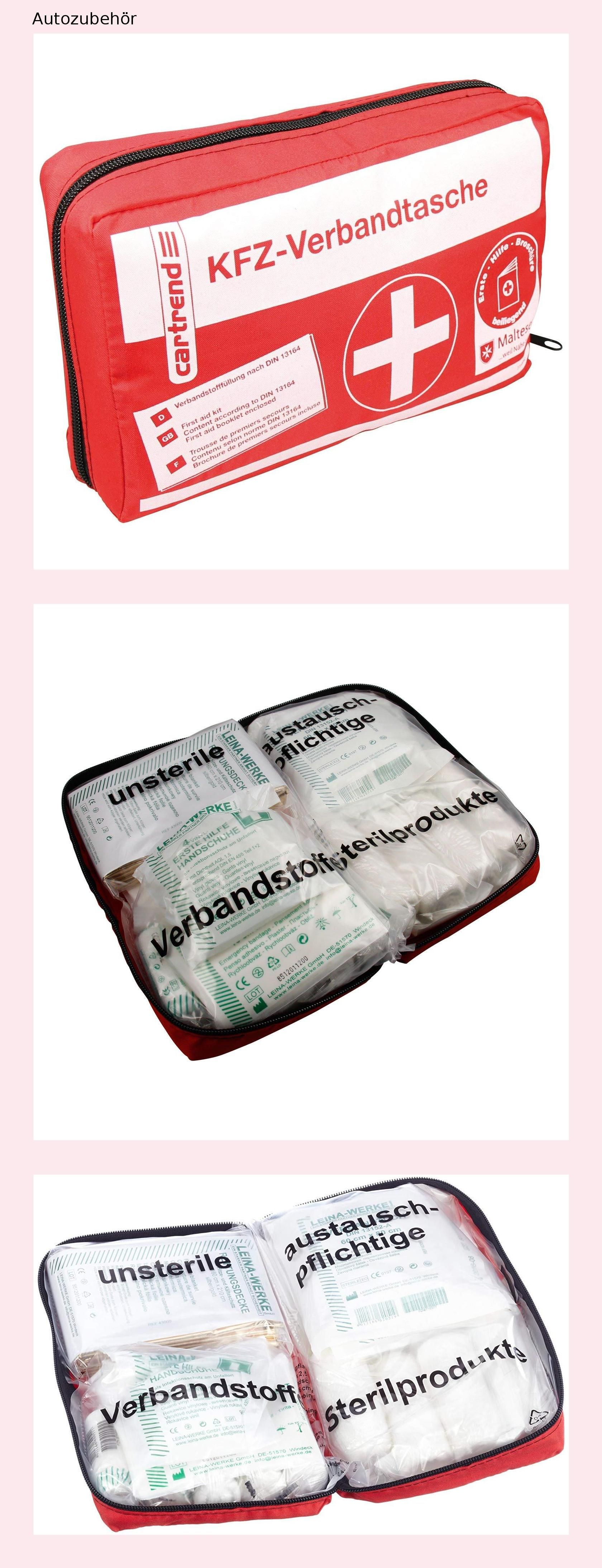 Cartrend Kombitasche Warndreieck Verbandtasche Malteser Erste-Hilfe-Set