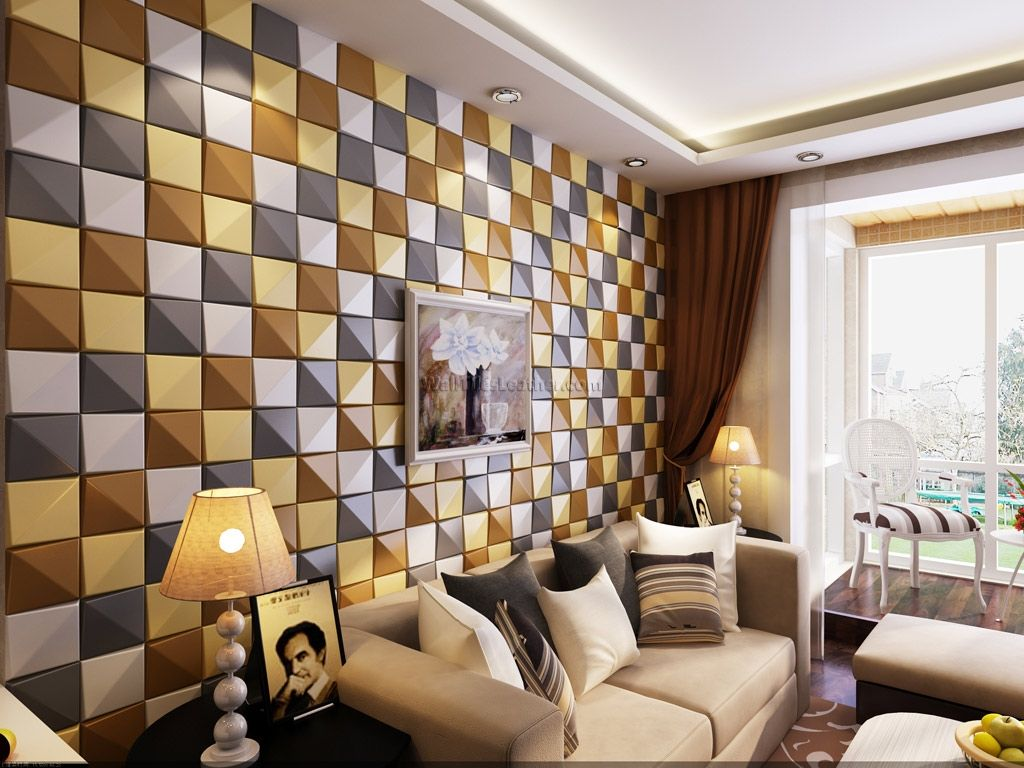 Decorative Wall Tiles For Living Room Awesome Wall Tiles Design For Living Room Decor Modern On Cool