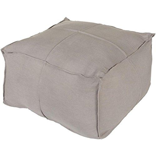 24 x 13 Just Solid Stone Gray Hand Woven Linen Square Pouf Ottoman *** Click image for more details.  This link participates in Amazon Service LLC Associates Program, a program designed to let participant earn advertising fees by advertising and linking to Amazon.com.