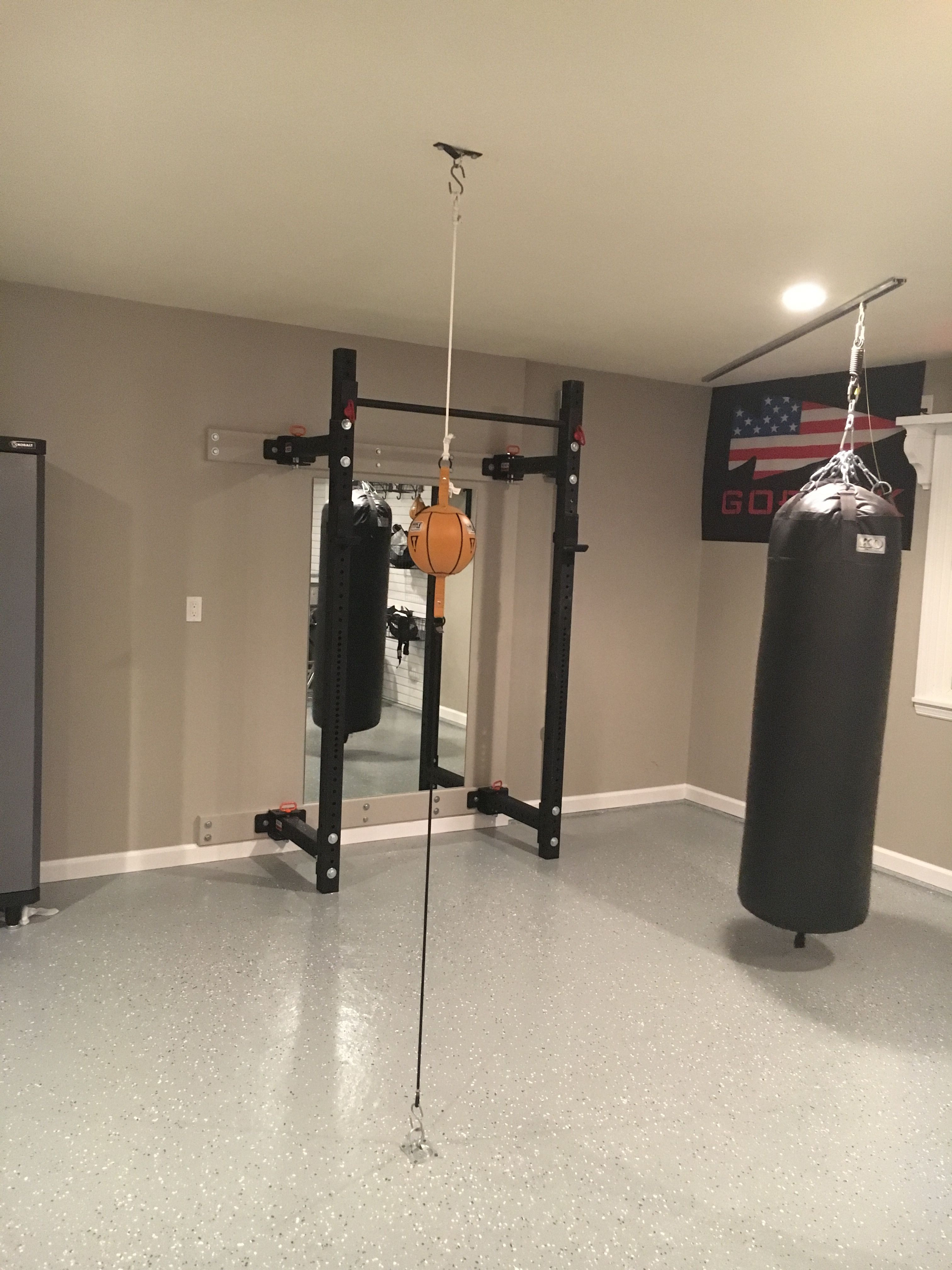 My lb heavy bag can slide flush into the corner pocket want