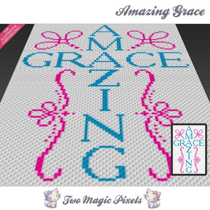 Amazing Grace crochet blanket pattern; knitting, cross stitch graph ...