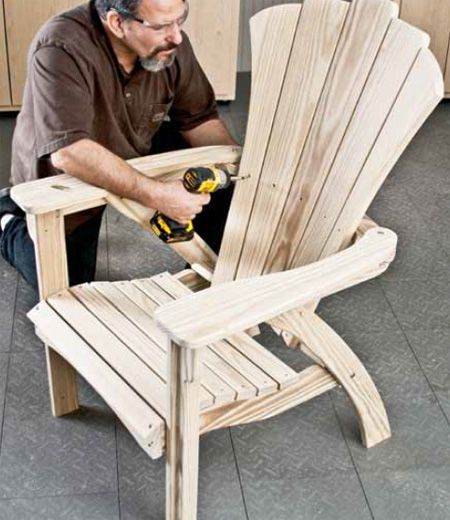 Woodworking plans projects adirondack chair for Chaise adirondack plan