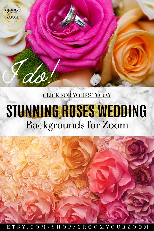 Zoom Background Wedding
