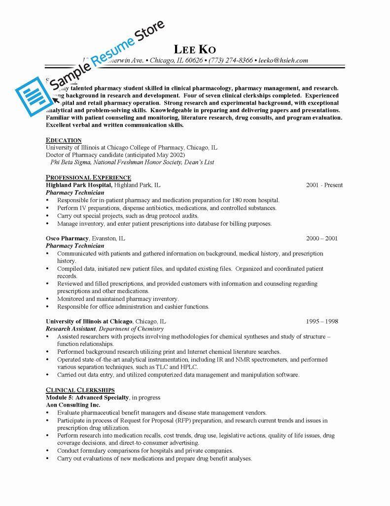 Pharmacy tech resume samples new sample resume for