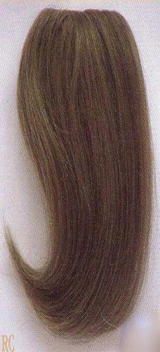 12 Straight Human Hair Clip On Filler Bangs Wiglet Enhancer Seamless Add On Straight Human Hair Human Hair Hair