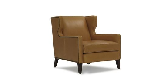 Marsden Leather Wing Chair Available Online 1945
