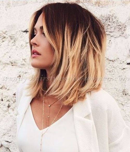 Medium Length Hairstyles For Straight Hair Medium Length Ombre