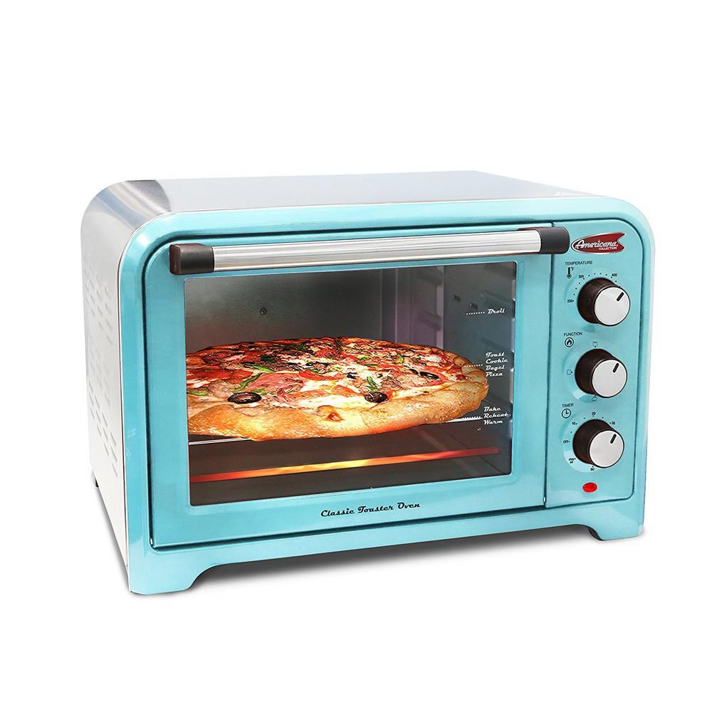 Slice of Bread or in Pizza Retro Toaster Oven Blue color