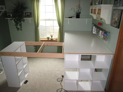 Do it yourself white craft desk amenagement bureau pinterest do it yourself white craft desk solutioingenieria Choice Image