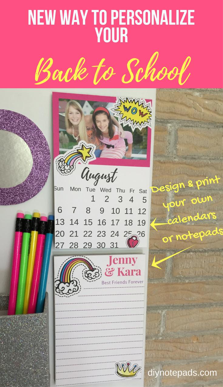 Diy Locker Calendar : Cool locker ideas diy personalized notepads calendars