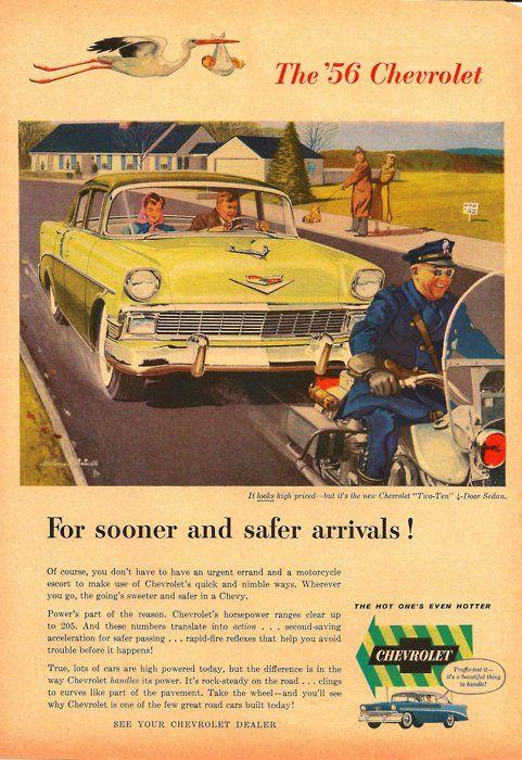 1956 CHEVROLET 210 FIREMAN CAPTAIN CAR Vintage Look METAL SIGN FIRE ENGINE