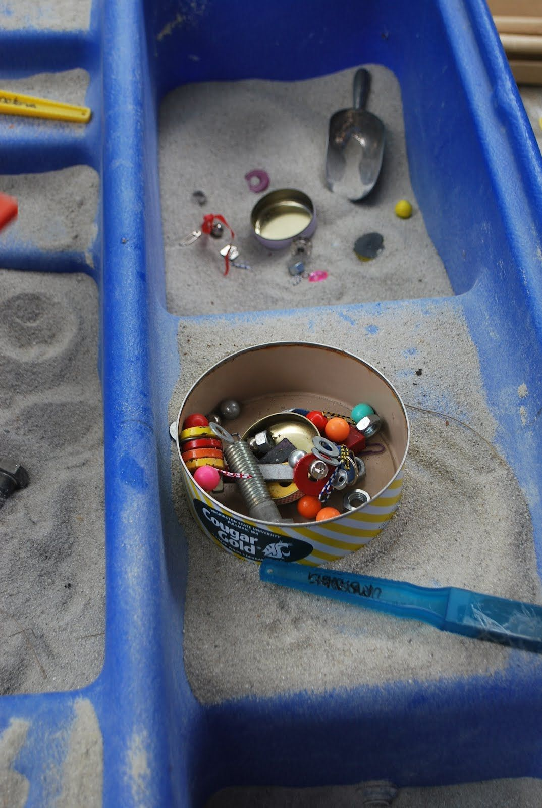 Magnet Hunt In The Sand Table
