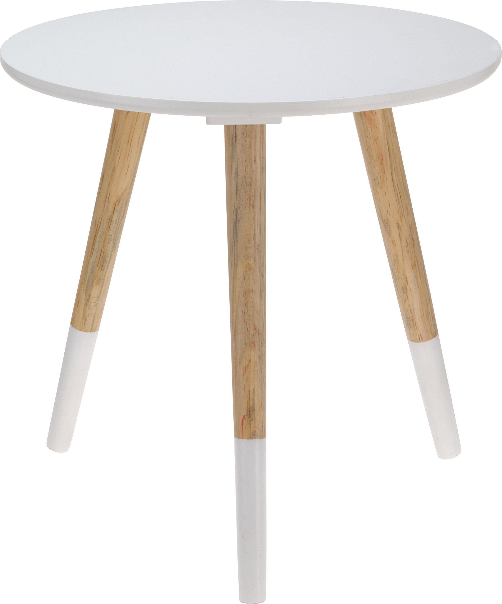 Beistelltisch Design Holz Couchtisch Telefontisch Sofatisch Tisch Dreibeiner Weiss 40 X 39 Cm Amazon De Kuche Ha Sofa Tisch Design Beistelltisch Couchtisch