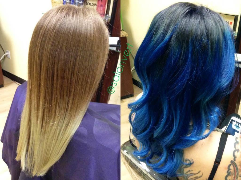 electric blue ombre - salon vert