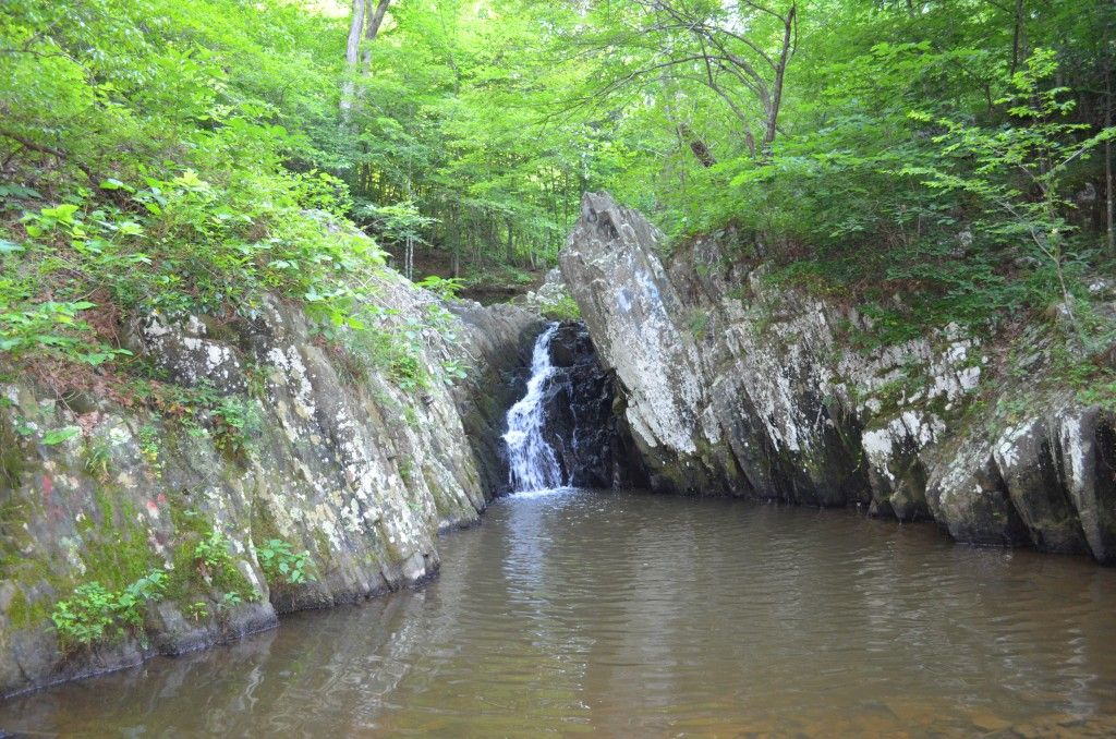 This Is The Waterfall At Abel Lake Reservoir Near The Boat Launch