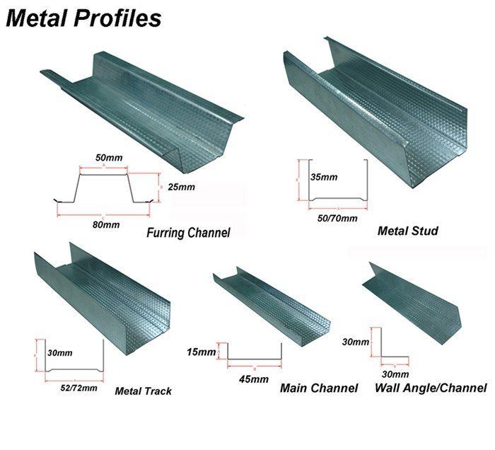 metal stud construction METAL STUDS TRACKS CHANNELS