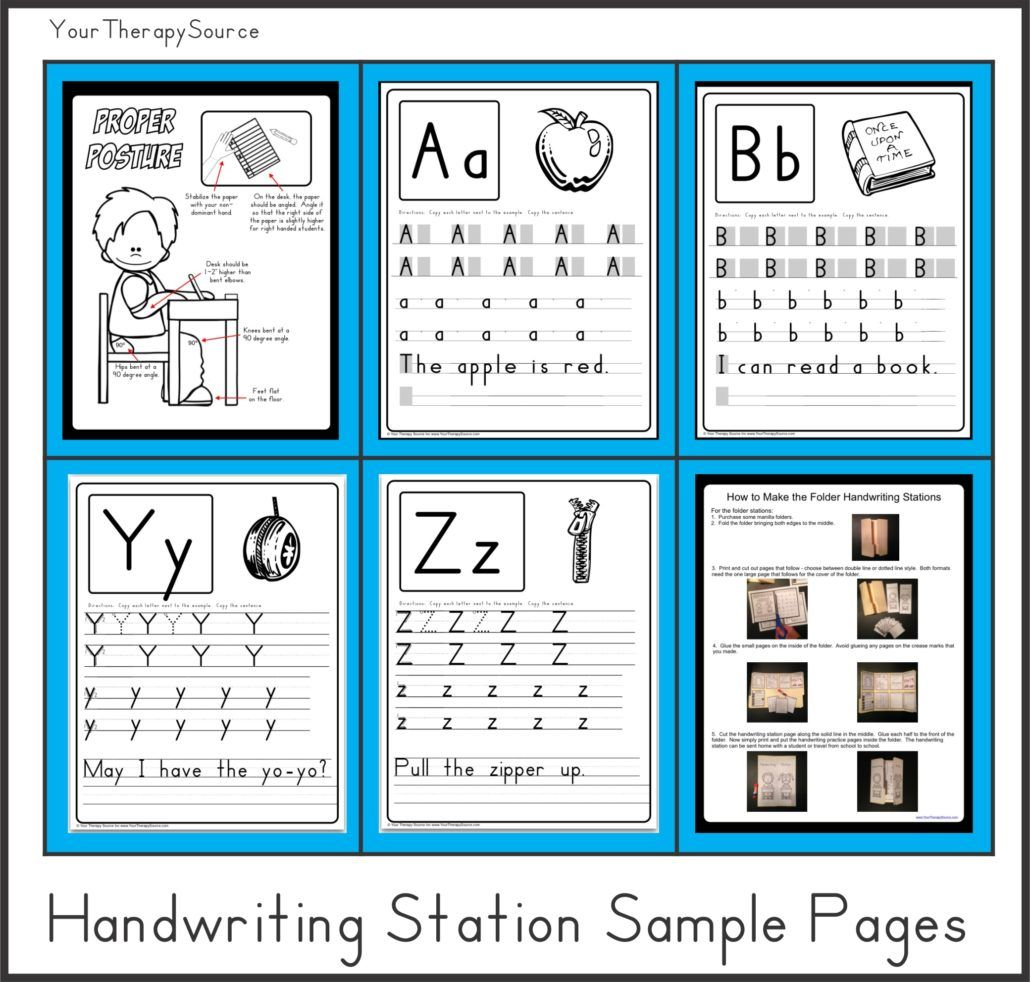 Download Free Sample Pages From Handwriting Stations