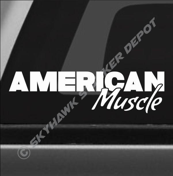 American muscle vinyl bumper sticker decal big block engine diesel car truck 4x4