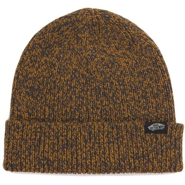 b9bdde989300d4 Vans Twilly Beanie ($18) ❤ liked on Polyvore featuring accessories, hats,  brown, beanie caps, beanie hat, logo beanie, vans beanie and vans hats