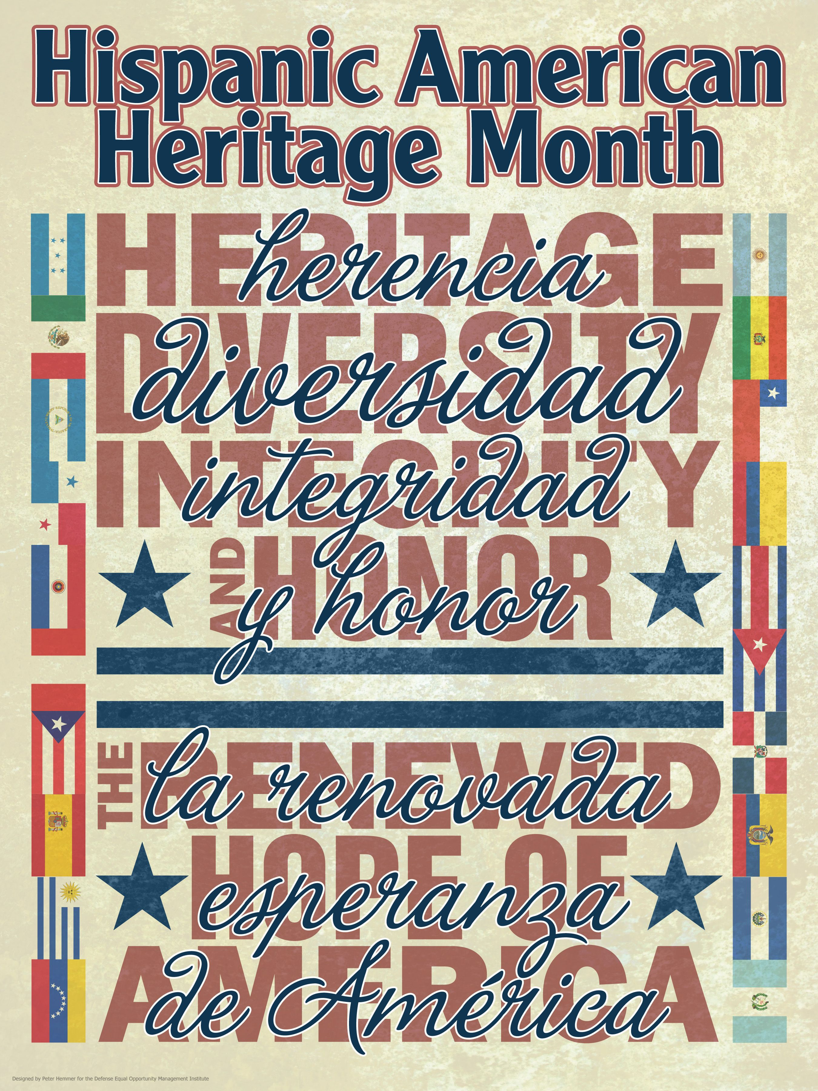 Hispanic Heritage Month Poster By Deomi