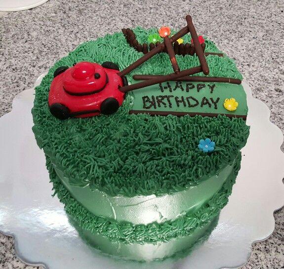 Lawn mower chocolate cake | Cake, Cake decorating, Chocolate