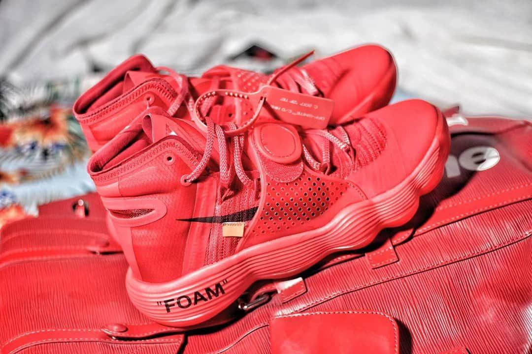 852dda160df8 Custom Off-White x Nike React Hyperdunk Red October