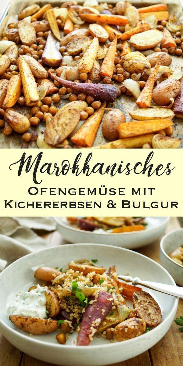 Marokkanisches Ofengemüse mit Kichererbsen Rezept | Elle Republic