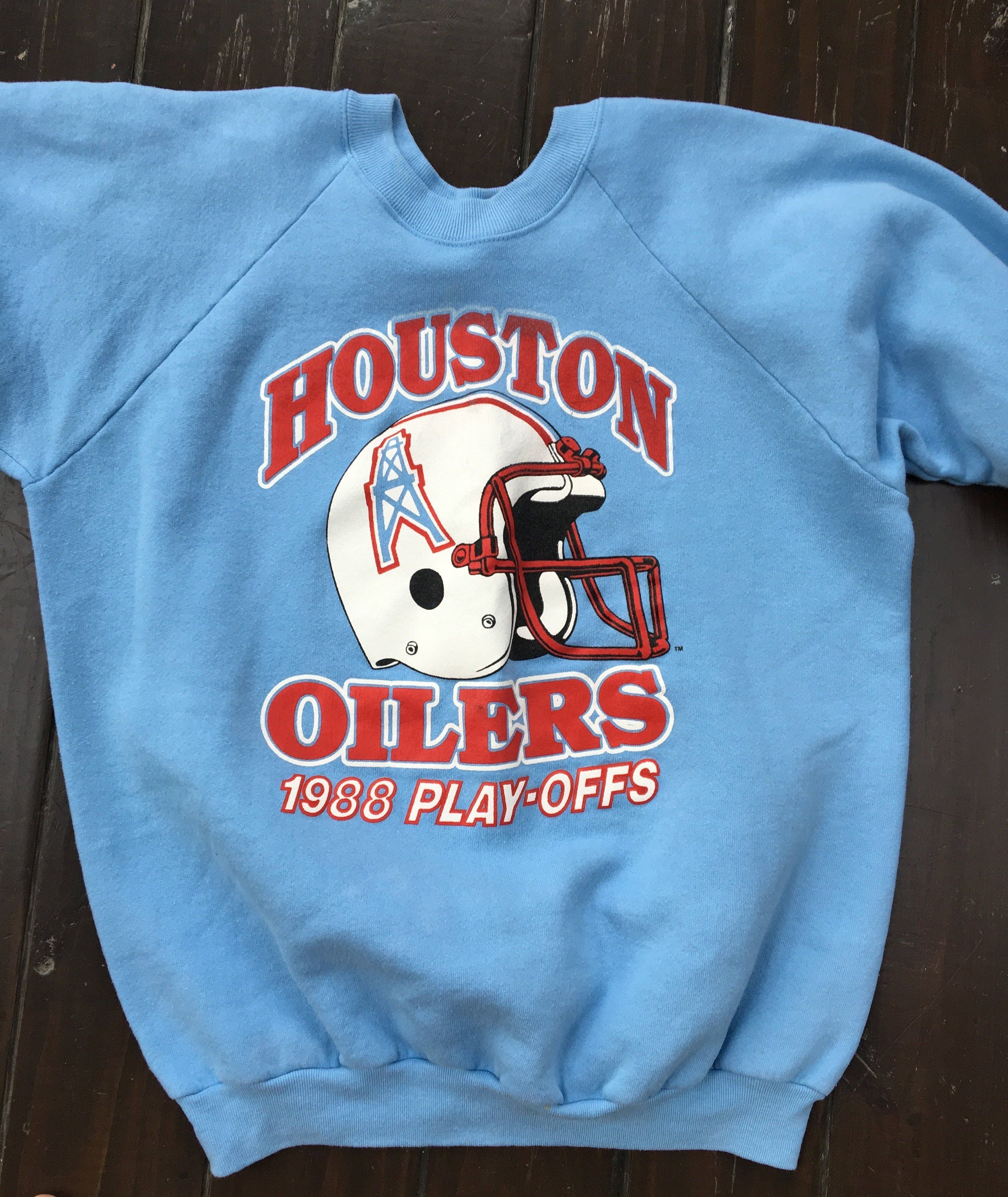new concept a0d86 9bf84 vintage Houston Oilers 1988 Play-Offs sweatshirt, blue XL ...