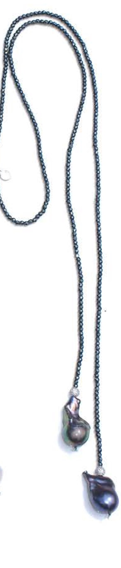 In2 Design Iselia Lariat necklace with freshwater pearls and