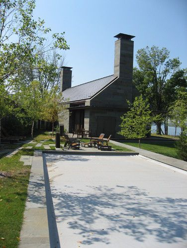 Like Traditional Design With Modern Clean Lines But Like It When Side Walls Are Built Above Roof Line Chimney Stacks Ma Shore House Modern Exterior Exterior