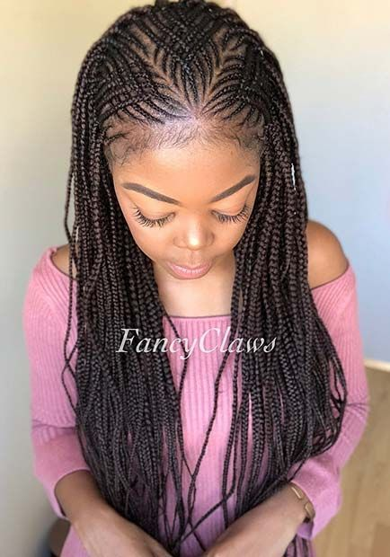 Long Thin Feed In Cornrows Feedinbraids Longbraids Cornrows Braided Hairstyles Hair Styles Kids Braided Hairstyles