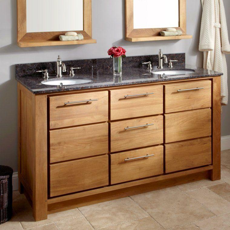 Idée salle de bain teck pour une déco bois durable et jolie Pinterest