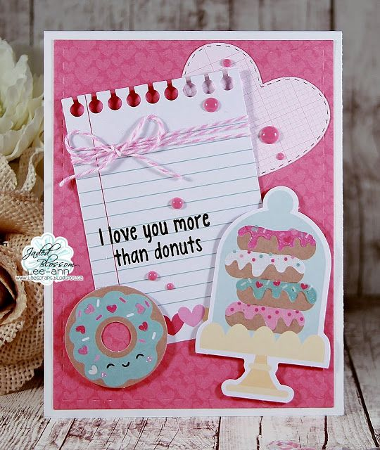 Snappy Scraps: I love you more that donuts! (With images ...