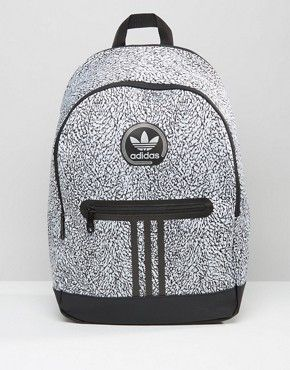 adidas Originals Backpack With Print In Black AY7837  0f560fc7bed38