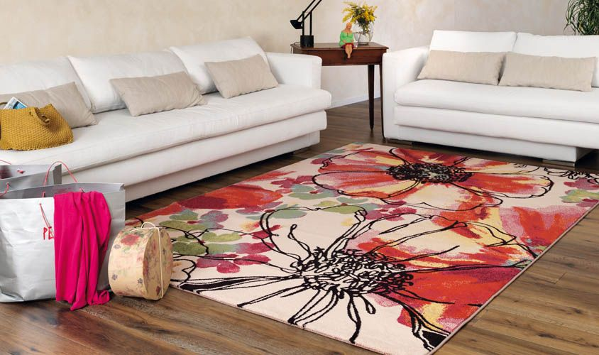 Tappeto collezione CAPRI 320416379 con disegno a fiori