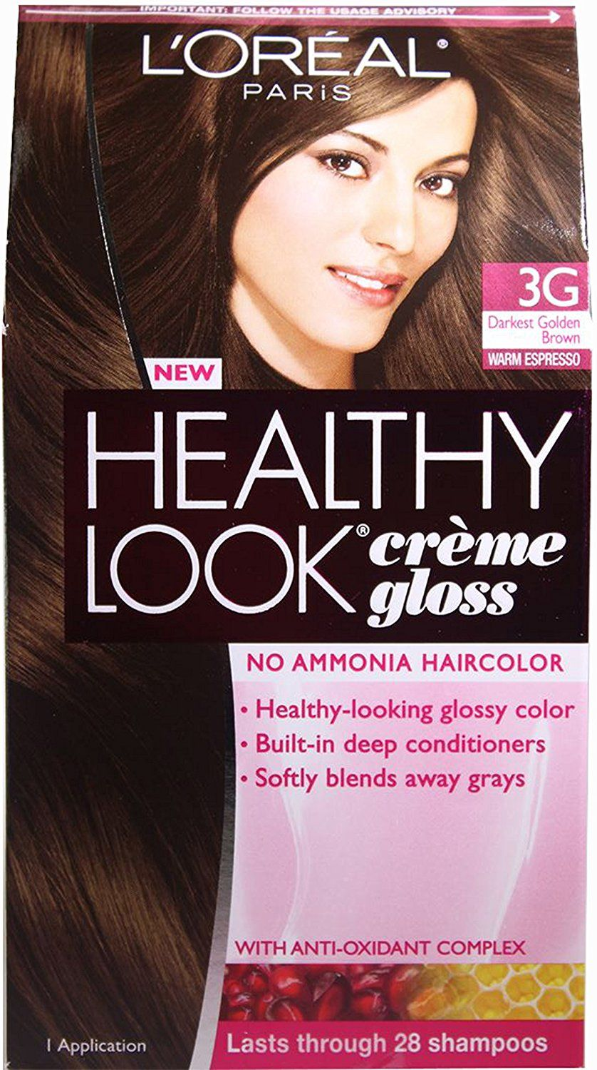 L Oreal Paris Healthy Look Creme Gloss Pack Of 3 Darkest Golden Brown 3g Read More At The Image Link Loreal Paris Loreal Hair Color Chart