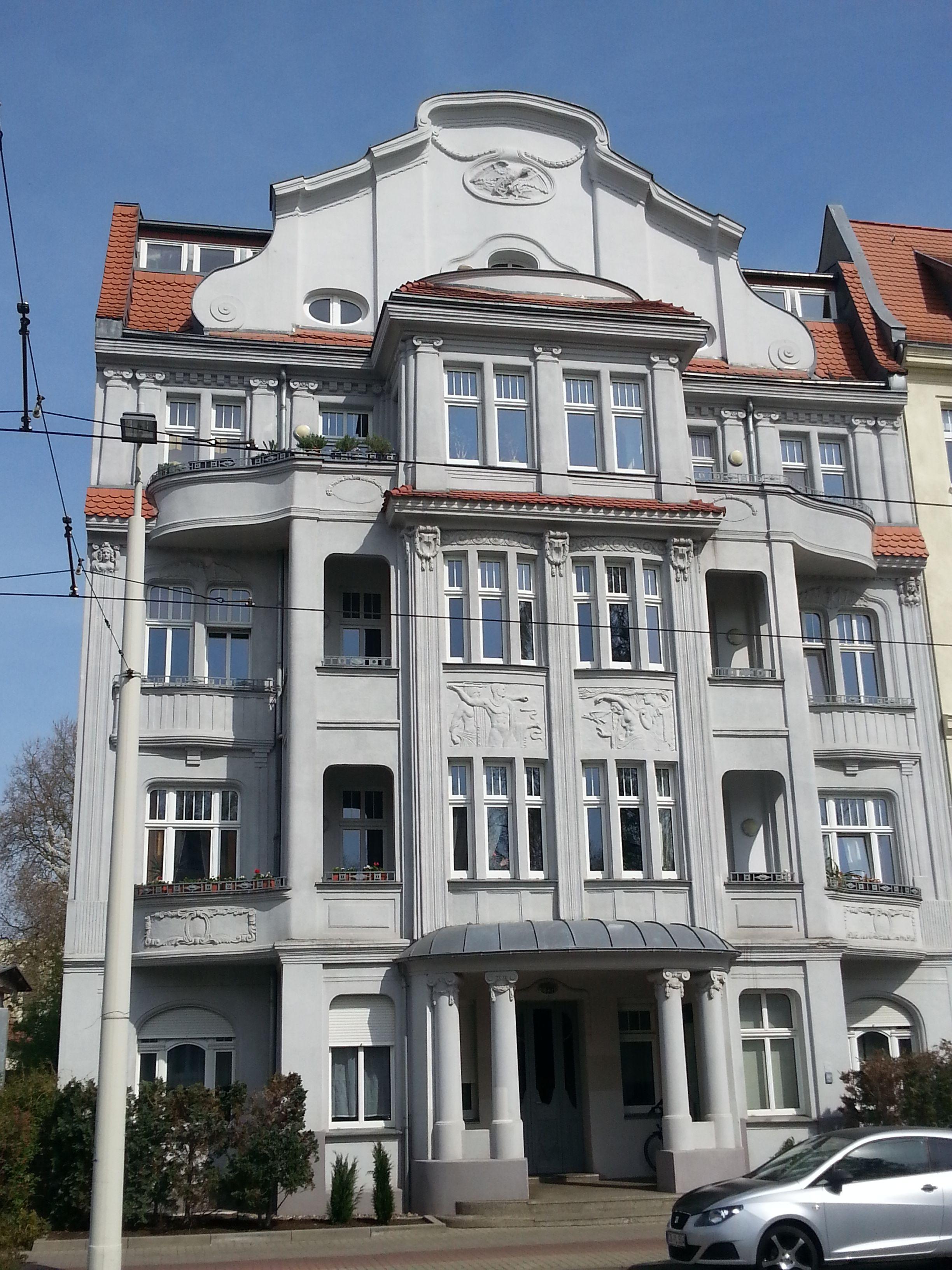 Cottbus, Berliner Straße Jugendstil architektur, Cottbus