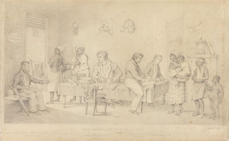 File:Protector of Slaves Office (Trinidad) by Richard Bridgens.jpg