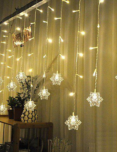 Hjl Christmas Curtain Ktv Bars Wedding Twinkle Waterfall Lights Decoration Lamps Waterproof S Waterfall Lights Xmas Window Decorations Holiday Lights