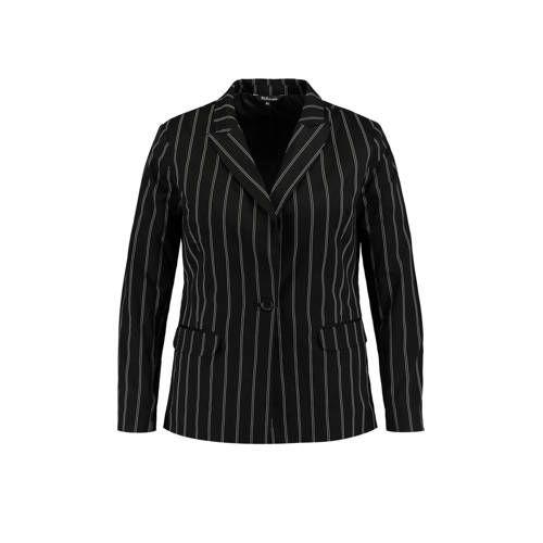 Blazer met krijtstreep zwartgrijs Mode, Zwart en Jasjes