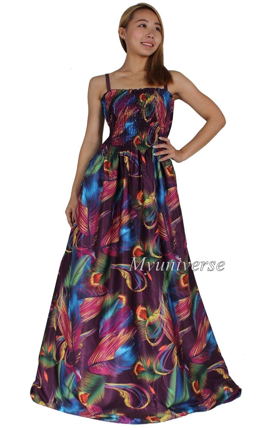 Plus Size Maxi Dress Women Summer Floral Casual Long Party Clothing Long Hawaiian Floor