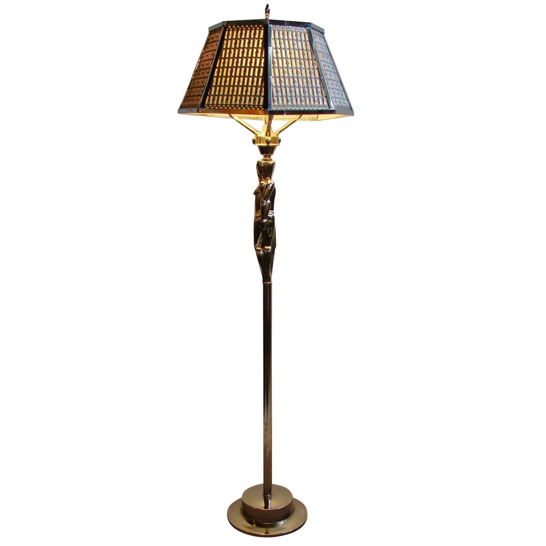 Art Deco Figural Chrome Steel Floor Lamp By Viktor Schreckengost