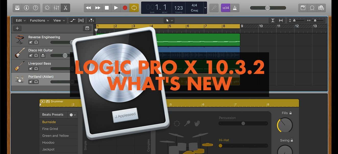 Apple Releases Logic X 10.3.2. Here's What's New Logic