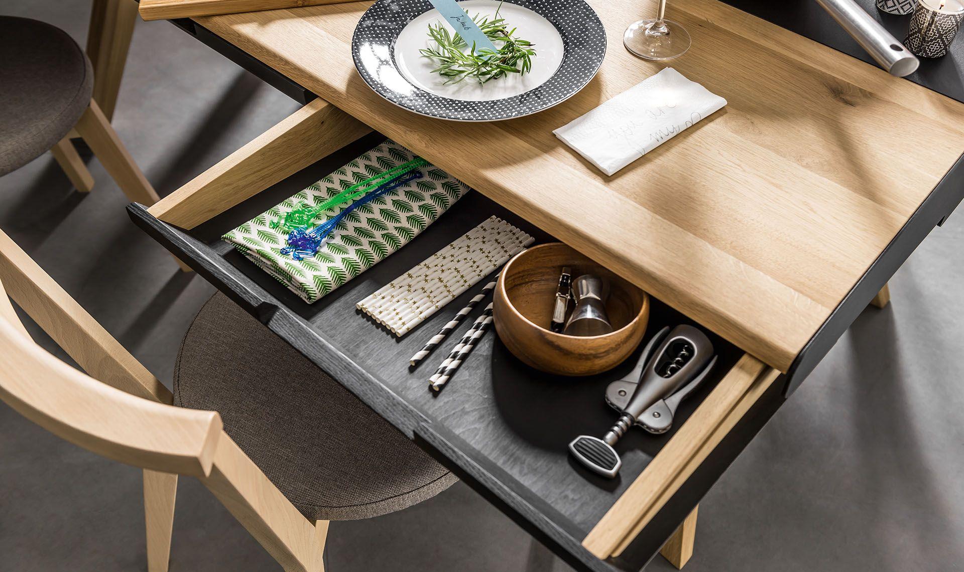 Stol Z Szufladami Wnetrza Dining Table With Drawers Oak