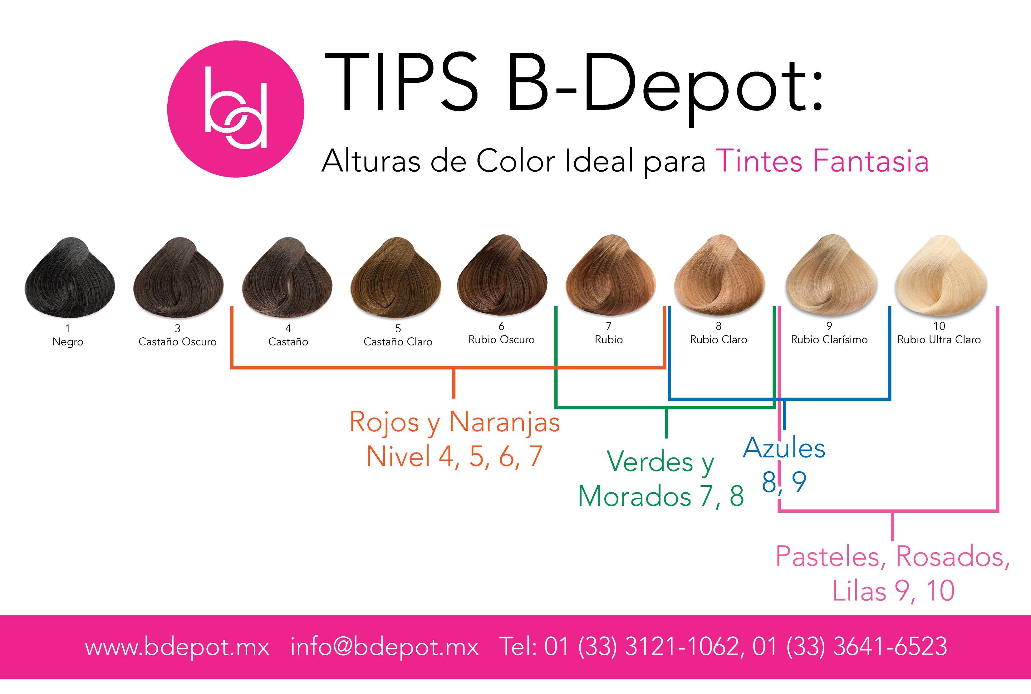 Altura De Color Fantasia Tips Cabello Bdepot Trucos Consejos Color Estilist Técnicas De Color Para Cabello Decoloración De Cabello Colorimetria Cabello