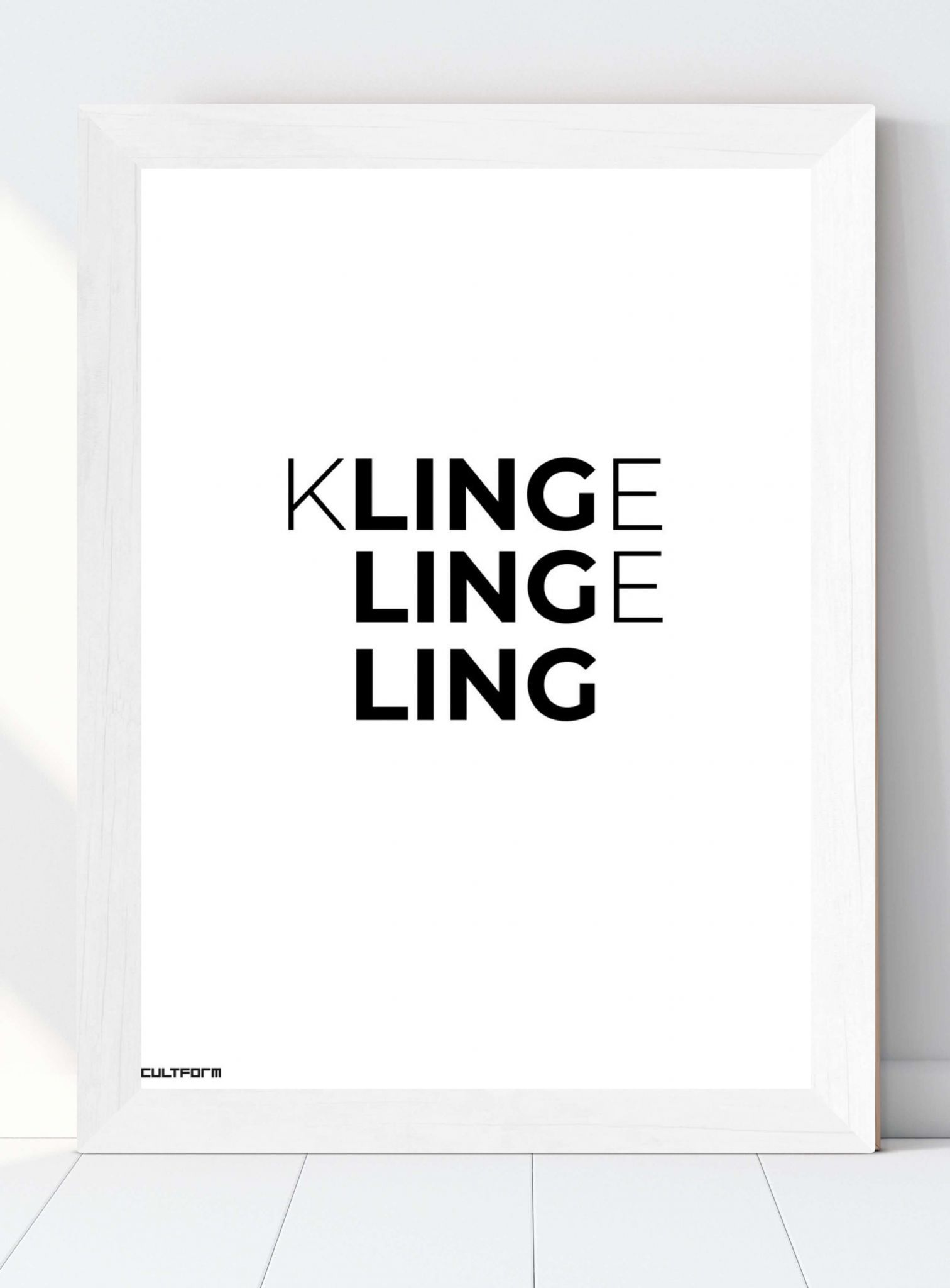 Weihnachtsgrafik Typo Klingeling Download zeitlos. in. form. CULTFORM