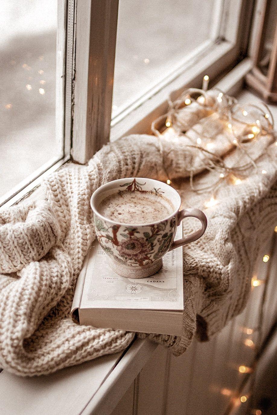 Обои напиток, книга, чтение, чай, окно. Разное foto 18