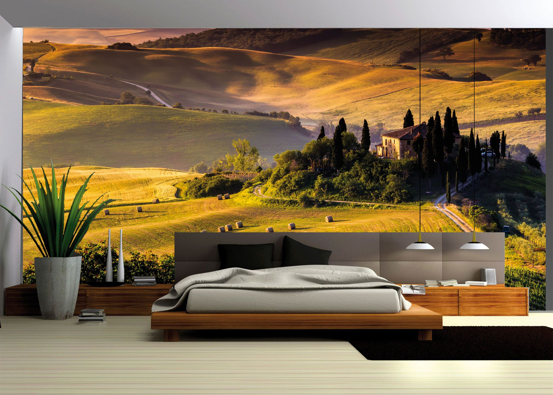 stilisiert vlies fototapete s m l xl xxl 3xl landschaft wiese berge natur 169 fototapete fur. Black Bedroom Furniture Sets. Home Design Ideas