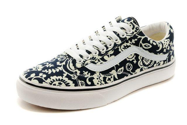 77725ee54d Vans Liberty Art Fabrics Ivy Pattern Old Skool Black Off the Wall  Skateboard Sneakers  S410301  -  39.99   Vans Shop
