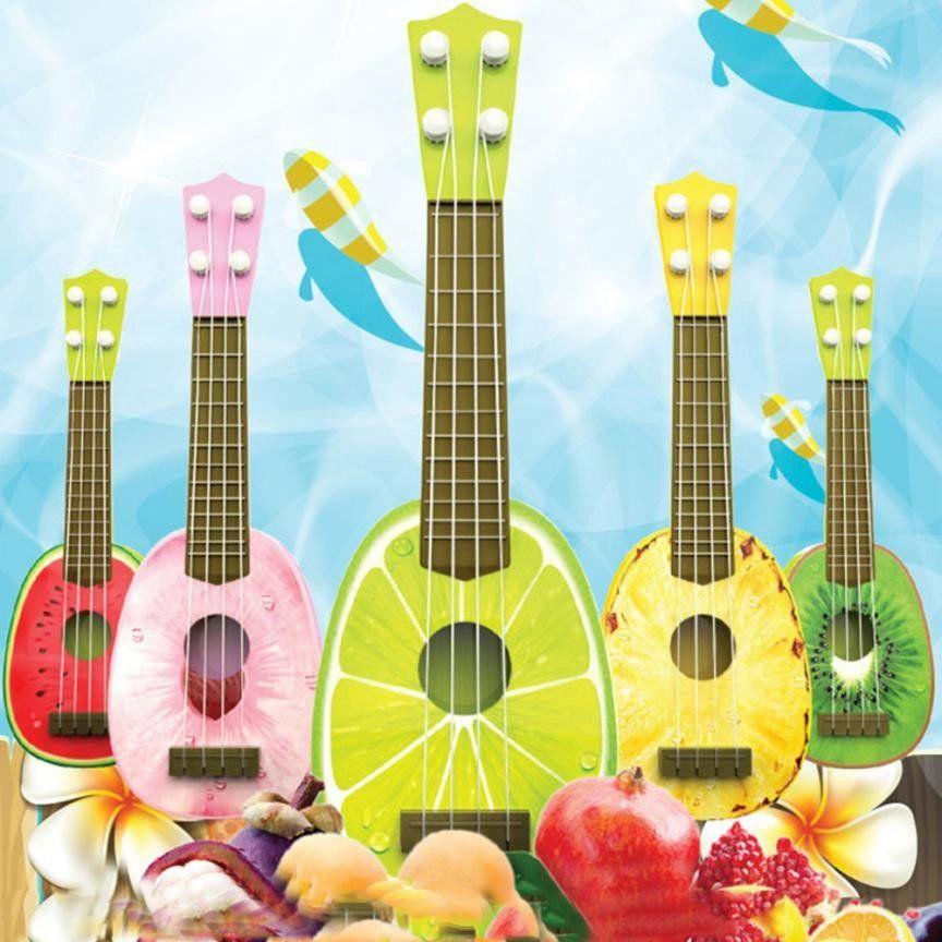 mini plastic fruit ukulele 5 kinds ukuleles pinterest